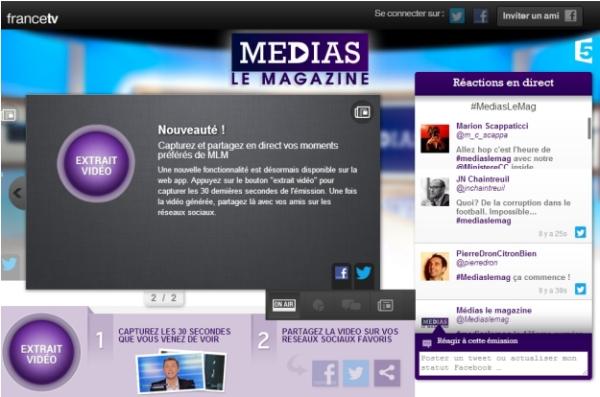 Nous aussi, on aime pas les captures d'écrans (Médias Le Magazine, 3 février 2012).