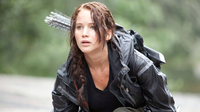 Katniss Everdeen (Jennifer Lawrence dans Hunger Games).