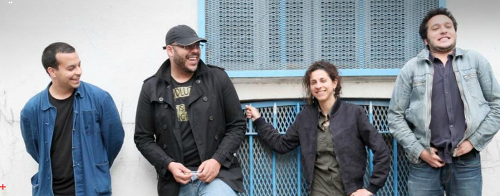 Les réalisateurs d'Un été à Alger, de gauche à droite : Hassan Ferahni, Yanis Koussim, Amina Zoubir, et Lamine Ammar-Khodja (photo : Narrative)
