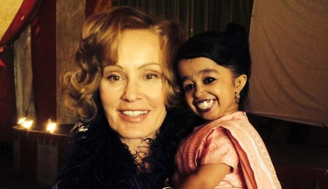 Une des plus grandes actrices du monde aux côtés de la plus petite.