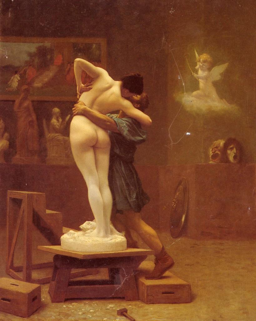 Pygmalion et Galatée, Jean-Léon Gérôme, 1890.