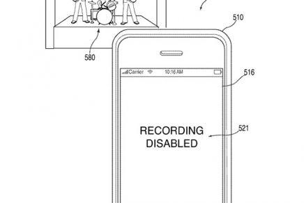 Un brevet pour désactiver la caméra de l'iPhone pendant les concerts (et ailleurs)