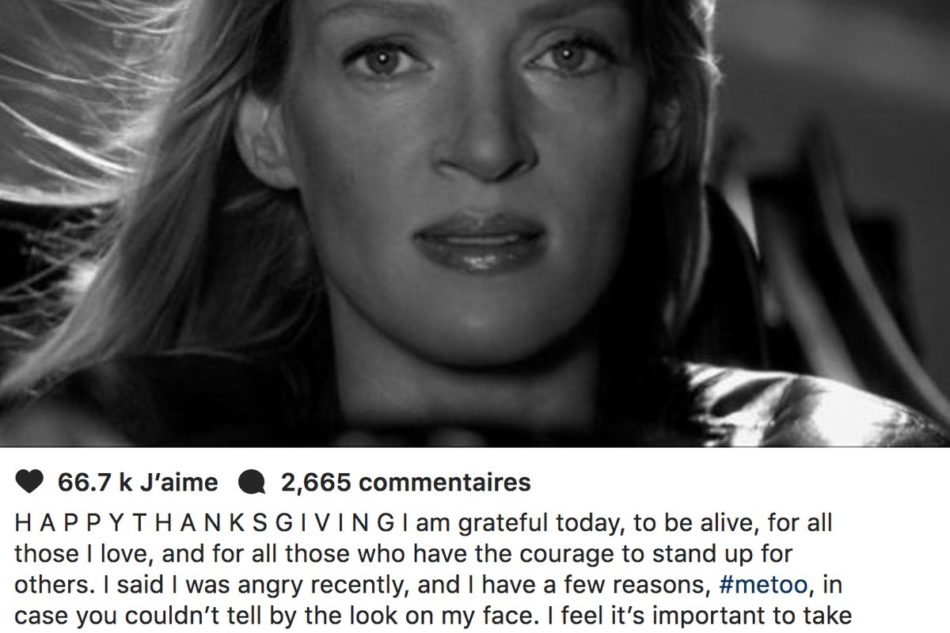 Uma Thurman balance Harvey Weinstein… et Tarantino (New York Times)